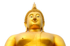 Statua mezza isolata del buddha Fotografia Stock Libera da Diritti