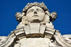 Statua miasto bogini Lipsia nakrywa Nowego urząd miasta Neues Rathaus budynek w Leipzig obraz royalty free