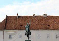 Statua Mihai Viteazu fotografia stock