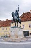 Statua Mihai Viteazul fotografia stock