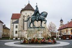 Statua Mihai Viteazul w Alba Iulia obrazy stock