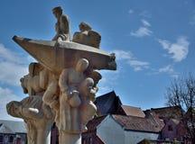 Statua moderna con le varie professioni antiche Immagini Stock Libere da Diritti