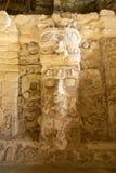 Statua na świątyni maski przy Kohunlich Meksyk Obraz Stock