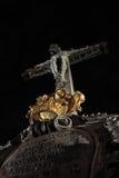 Statua na Charles moscie w Praga Fotografia Stock