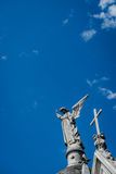 Statua na dachu Obraz Stock