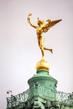 Statua na górze Lipiec kolumny w Paryż, Francja Fotografia Royalty Free