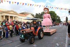 Statua na Karnawałowym korowodzie. Zdjęcia Royalty Free