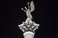 Statua na kolumnie przy bohatera kwadratem w Budapest Zdjęcia Royalty Free