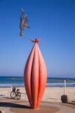 Statua na plaży Zdjęcie Stock