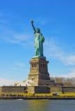 Statua na swobody wyspie Zdjęcia Royalty Free