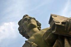 Statua na WÃ ¼ rzburg ` s magistrali Starym moscie Zdjęcie Stock