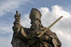 Statua na WÃ ¼ rzburg ` s magistrali Starym moscie Zdjęcia Royalty Free