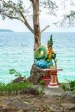 Statua na wyspie Phuket, Tajlandia Zdjęcia Royalty Free