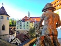 Statua nagi mężczyzna w Meersburg Obraz Stock