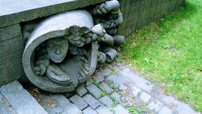 Statua nascosta nel parco Fotografia Stock