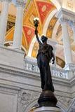 Statua nel congresso delle biblioteche in Washington DC Fotografia Stock