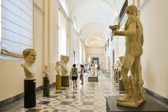 Statua nel museo archeologico nazionale di Napoli fotografia stock