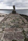 Statua nel nde del ¼ di Travemà fotografia stock