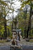 Statua nel parco di Copou, Iasi, Romania in autunno Immagini Stock