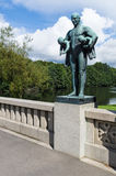Statua nel parco di Frogner, Oslo, Norvegia fotografia stock