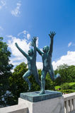 Statua nel parco di Frogner, Oslo, Norvegia immagini stock