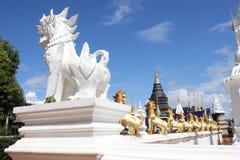 Statua nel tempio, Chiangmai di Singha Immagini Stock Libere da Diritti