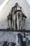 Statua nell'università di Coimbra Fotografia Stock Libera da Diritti