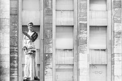 Statua nell'università di Coimbra Immagini Stock Libere da Diritti