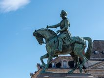 Statua nella città di Orléans fotografie stock