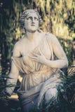 Statua nella fontana del Mosè - Giardini Gardens del Pincio di Fontana a Roma, Italia Immagine Stock