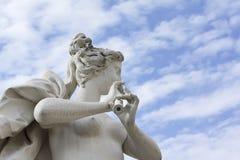 Statua nella sosta di belvedere a Vienna Fotografia Stock Libera da Diritti