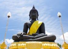 Statua nera di Buddha Immagine Stock Libera da Diritti