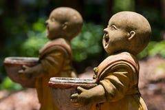 Statua nowicjuszi w Wata Umong Chiang Mai Tajlandia zdjęcia stock