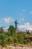 Statua o Mayr dell'Armenia della madre hayastan Monumento situato in Victory Park, città di Yerevan, Armenia Immagini Stock
