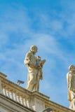 Statua od świętego P? eteru kwadrat w Watykan Zdjęcie Royalty Free