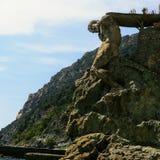 Statua od Monterosso, Włochy zdjęcia stock