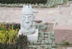 Statua od Tiwanaku Obrazy Stock
