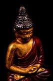 Statua orientale di Buddist isolata Fotografie Stock Libere da Diritti