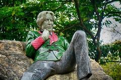 Statua Oscar Wilde przy Merrion kwadratem, Dublin, Irlandia zdjęcie royalty free