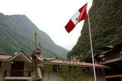 Statua Pachacuti - Aguas Calientes, Peru - Obrazy Stock