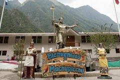 Statua Pachacuti - Aguas Calientes, Peru - Fotografia Stock