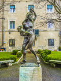 Statua pamiętać WW 2 i bombardowanie w San Marino Zdjęcie Stock