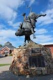 Statua pasa ruchu mróz, Cheyenne, Wyoming Fotografia Royalty Free
