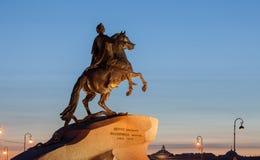 Statua Peter Wielki w St Petersburg, Rosja Zdjęcie Stock