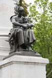 Statua - Philippe Lebon kwadrat - Lille, Francja - Obrazy Stock