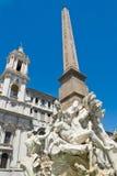 Statua in piazza Navona Fotografie Stock Libere da Diritti
