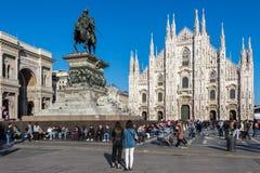 Statua pierwszy królewiątko zlany Włochy Vittorio Emanuele II zdjęcia stock