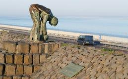 Statua pracownicy które budowali Afsluitdijk Zdjęcie Stock