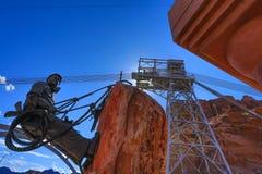 Statua pracownicy które budowali Hoover tamę Obraz Stock