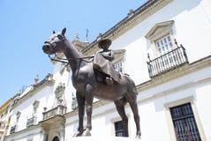 Statua Princess Maria Mercedez bourbon w Seville, Hiszpania obrazy stock